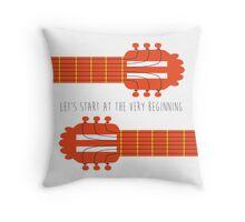 Sound of music guitar quote Throw Pillow
