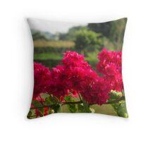 african flower Throw Pillow