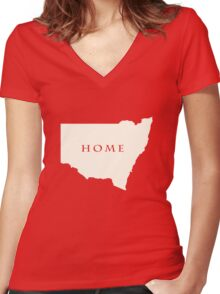 News South Wales Australia Women's Fitted V-Neck T-Shirt