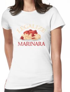 Legalize Marinara - Funny Food T - Spaghetti Sauce   Womens Fitted T-Shirt