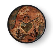 Steampunk, rusty metal Clock