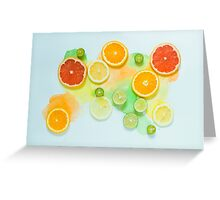 Summer citrous Greeting Card