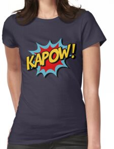 Kapow! Comic Book Womens Fitted T-Shirt