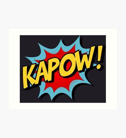 Kapow! Comic Book Art Print