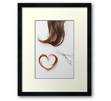 Love your hair Framed Print