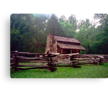 Wooden Cabin - Cades Cove, Tennessee Canvas Print