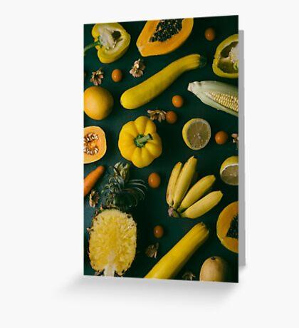 Yellow food Greeting Card