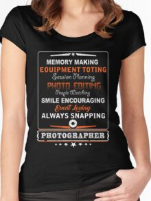 Photographer smile encouraging Women's Fitted Scoop T-Shirt