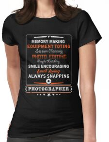 Photographer smile encouraging Womens Fitted T-Shirt