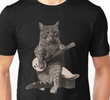 Cat Playing Banjo Guitar Unisex T-Shirt