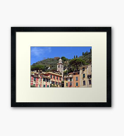 Colorful houses in Portofino, Italy Framed Print