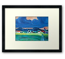 approaching dark clouds Framed Print