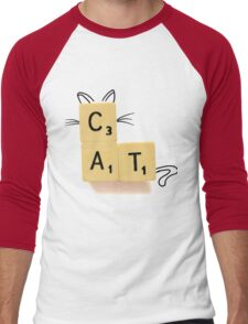 Cat Scrabble Men's Baseball ¾ T-Shirt