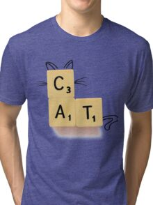 Cat Scrabble Tri-blend T-Shirt