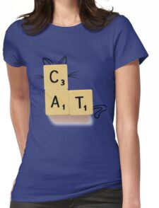 Cat Scrabble Womens Fitted T-Shirt