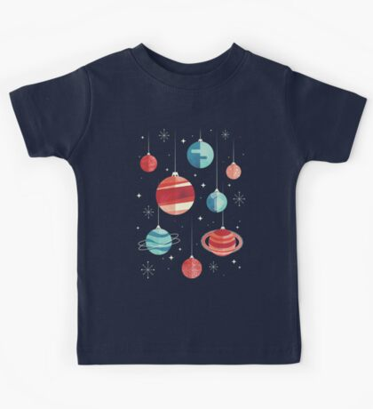Joy to the Universe (Teal Version) Kids Tee