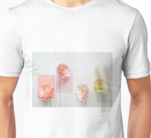 Paper peonies II (textured background) Unisex T-Shirt