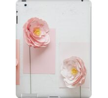 Paper peonies II (textured background) iPad Case/Skin