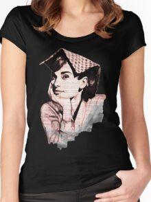 Audrey Hepburn pn02 Women's Fitted Scoop T-Shirt