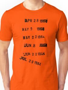 Last Checked Out Library Stamp Unisex T-Shirt