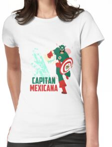 Capitan Mexicana Cool Sarcastic Funny America Captain Graphic Artistic Design Womens Fitted T-Shirt