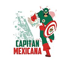 Capitan Mexicana Cool Sarcastic Funny America Captain Graphic Artistic Design Photographic Print