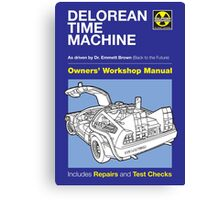 Owners' Manual - Delorean - Poster & stickers Canvas Print