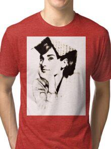 Audrey Hepburn pn06 Tri-blend T-Shirt