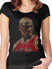 The GOAT Michael Jordan Women's Fitted Scoop T-Shirt
