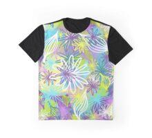 Pastel Daisies on watercolour melt Graphic T-Shirt