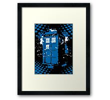 Retro Ink Splash in Time and Relative Dimension In Space Framed Print