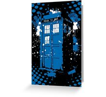 Retro Ink Splash in Time and Relative Dimension In Space Greeting Card