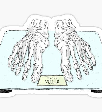 Ten Tonne Skeleton Sticker