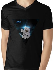 Capitain KitKat Lost in Space Mens V-Neck T-Shirt