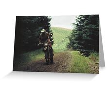 Motor-cross Greeting Card