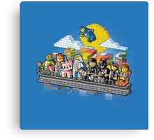Lego workers Canvas Print