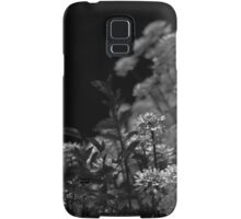 Edelweiss Flowers by Moonlight in Black and White Samsung Galaxy Case/Skin