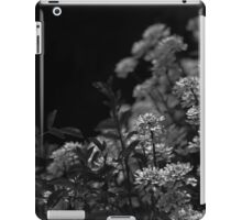 Edelweiss Flowers by Moonlight in Black and White iPad Case/Skin