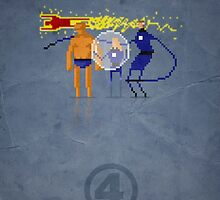 8-Bit Marvels Fantastic Four by Paulo Capdeville