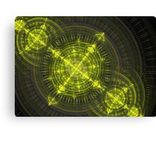 Radioactive fractal Canvas Print