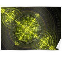 Radioactive fractal Poster