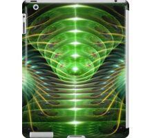 Green helix iPad Case/Skin