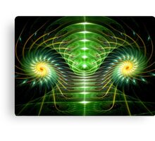 Green helix Canvas Print