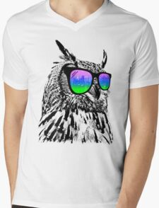 Cool Owl Mens V-Neck T-Shirt