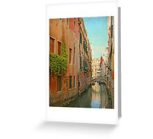 Vintage Inspired Venetian Canal  Greeting Card