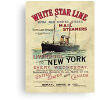 Liverpool to New York Mail Ship Canvas Print