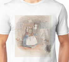 A cute Field Mouse spinning yarn by Beatrix Potter Unisex T-Shirt