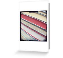 Diagonal red books Greeting Card