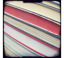 Diagonal red books Photographic Print
