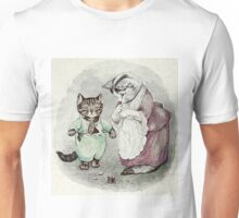 A mother cat dressing her little Tom by Beatrix Potter Unisex T-Shirt